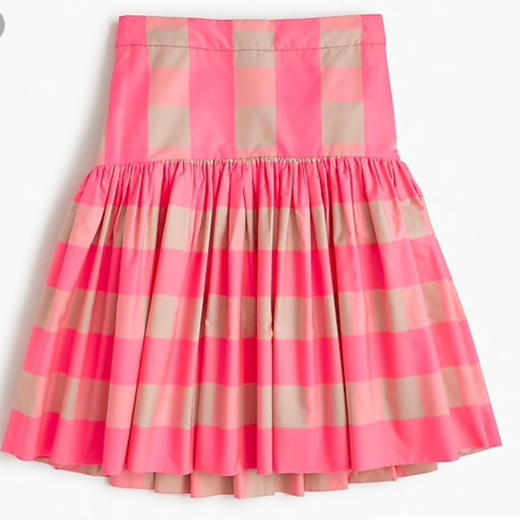 J. Crew Dresses & Skirts - NWT JCREW TAFFETA BUFFALO CHECK SKIRT - 0